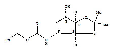 Carbamicacid,N-[(3aS,4R,6S,6aR)-tetrahydro-6-hydroxy-2,2-dimethyl-4H-cyclopenta-1,3-dioxol-4-yl]-,phenylmethyl ester