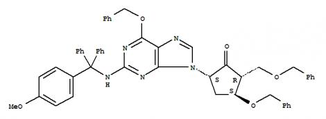 Cyclopentanone,5-[2-[[(4-methoxyphenyl)diphenylmethyl]amino]-6-(phenylmethoxy)-9H-purin-9-yl]-3-(phenylmethoxy)-2-[(phenylmethoxy)methyl]-,(2R,3S,5S)