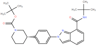 (3S)-3-[4-[7-[[(1,1-Dimethylethyl)amino]carbonyl]-2H-indazol-2-yl]phenyl]-1-piperidinecarboxylic acid 1,1-dimethylethyl ester