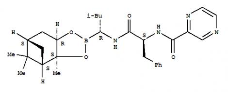2-Pyrazinecarboxamide,N-[(1S)-2-[[(1R)-1-[(3aS,4S,6S,7aR)-hexahydro-3a,5,5-trimethyl-4,6-methano-1,3,2-benzodioxaborol-2-yl]-3-methylbutyl]amino]-2-oxo-1-(phenylmethyl)ethyl]